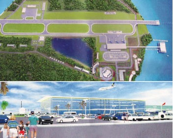 The master plan for the Boracay Airport Complex which will feature a 5,000 room budget hotel. (Photo source: sunboracay.com)