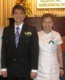 Colliers International's Ms. Marissa Benitez with PRC PRBRES Board Member, Rafael Fajardo.