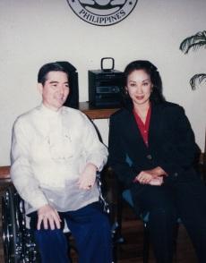 Mr. Ramon Cuervo with former DOT Secretary, Gemma Cruz Araneta.