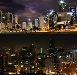 One of the two best CBD- Bonifacio Global City (top) and Makati City (bottom).(Photo source: www-bestblogmanila-com / www.flickr.com)