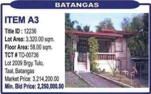 Foreclosed property in Batangas.(Photo source: www.foreclosurephilippines.com)
