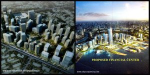 The two new business districts will rise: Quezon City Business District (left) and Manila Financial Center (right).