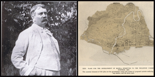 Daniel Burnham and his urban planning for Manila.(Photo source: www.wikipedia.org)