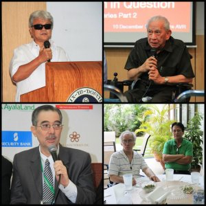 The Board Members of PWD Inc. (Clockwise from topleft): Mr. Michael Barredo, Mr. Manuel Agcaoili, Mr. Carlos Weber, Mr. Lui Arrelano, and Mr. Ramon Cuervo III.