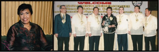 PRC Chairperson, Teresita Manzala receives her plaque of appreciation from the Board members of PRC-PRBRES.