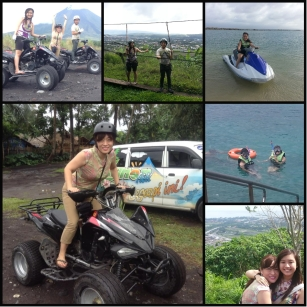 Mr. Kirby Salvador and her children during their trip to Legazpi.