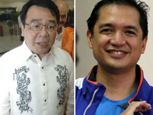 Bayan Muna Representatives, Teddy Casino and Neri Colmenares. (Photo source: www.newsinfo.inquirer.net)