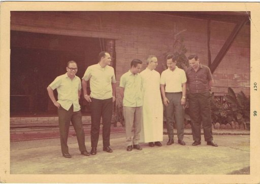 My father with his friends at Makiling Conference Center. Due to prayers for St. Josemaria Escriva, the property was purchased.