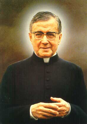 St. Josemaria Escriva, the founder of Opus Dei and considered as a saint for all of us who works.