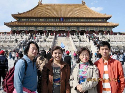Dr. Kirby Salvador and her family during their trip to China.