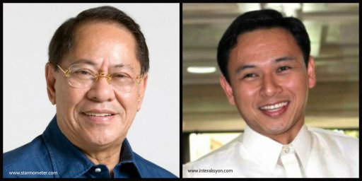 Senator Edgardo Angara and Representative Juan Edgardo Angara