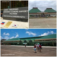 Entry point to Palawan: Busuanga Airport (top) and Puerto Prinsesa Airport (below)