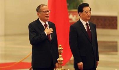 President Benigno Aquino and President Hu Jintao.(Photo source: www.globalbalita.com)