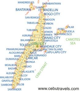 Map of Cebu.
