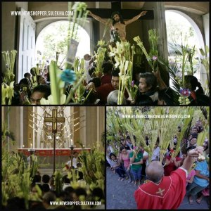 Palm Sunday celebration in the Philippines.