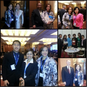 Some of the real estate professionals the author met during the conference.
