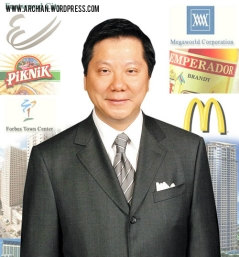 Megaworld's Andrew Tan paid P60.1 million in taxes for all his sources of income for 2011, which is already enough to make him the number 1 taxpayer, not Kris Aquino.