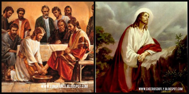Holy Thursday: The Washing of Disciples Feet and the Agony in the Garden.