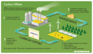 How carbon offsets work.