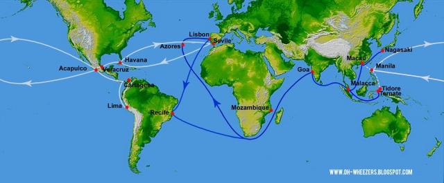 The route of Manila Galleon.