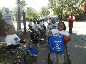 PWDs from Tahanang Walang Hagdan shows their full support to PWD Inc. by joining in the campaigns.