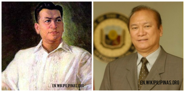 The late former Philippine President, Ramon Magsaysay and son, Jun Magsaysay.