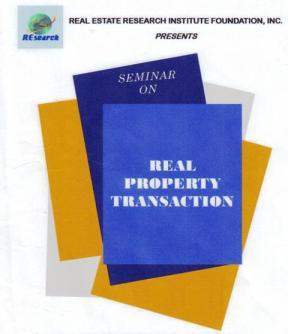 REAL PROPERTY TRANSACTION SEMINAR