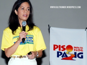 "Ms. Gina Lopez, Managing Director of ABS-CBN Foundation, spearheaded the ""Kapit Bisig para sa Ilog Pasig""project."