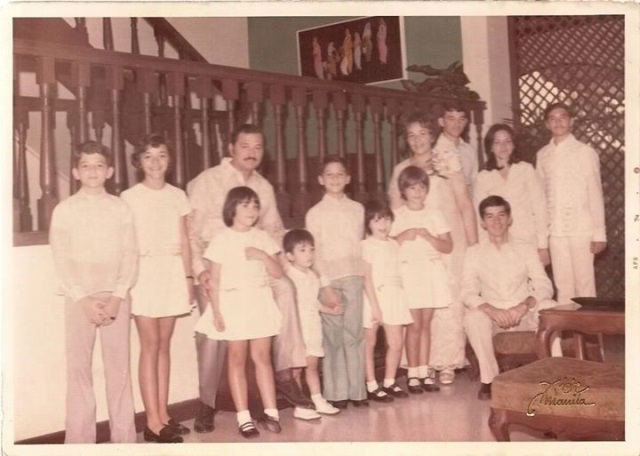The Cuervo family inside the house that my father built.