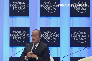 President Benigno Aquino highlighted the economic success of the Philippines during the World Economic Forum.