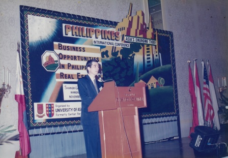 "Ramon CF Cuervo III, Organizer and Vice Chairman of the conference ""Business Opportunities in Philippine Real Estate"""