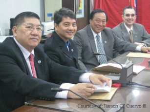Professional Regulatory Board of Real Estate Service from left: Mr. Bansan Choa, Mr Rafael Fajardo, Mr. Eduardo G. Ong, Mr. Ramon CF Cuervo III