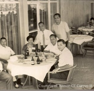 A pillar of Manila Board of Realtors. Standing PP Ernie Castañeda (1966-67), seated Atty.Alberto Filamor (1969-70) and Ramon F Cuervo Jr.(1965-66), Conchita Calero