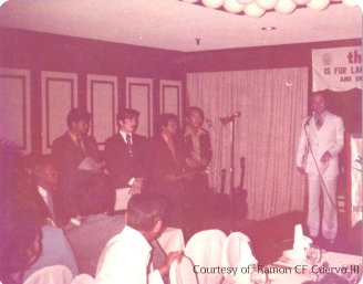 PAREB President Rod Valencia Inducting Incoming president ramon cf cuervo iiand officers of Manila Board of Realtors,1974