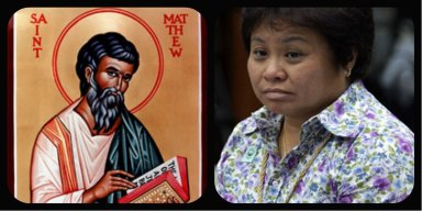 BIR Commissioner Kim Henares and St. Matthew the tax collector