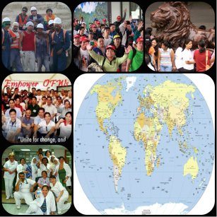 OFWs all over the world, construction workers, nurses and domestic helpers..