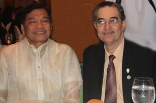"Atty. Jose ""Joey"" Lina, former Laguna governor and former senator of the Philippines with Mr. Ramon CF Cuervo III."