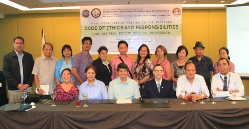 The PRC-PRBRES Board Members and the Real Estate Service Practitioners who participated in the consultation meeting.