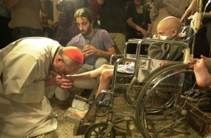 His Holiness Pope Francis love for the sick, poor and persons in need