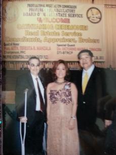 Mr. Ramon CF Cuervo III and Real Estate Broker Dra. Kirby Salvador with iRemit CEO Mr. Bansan Choa