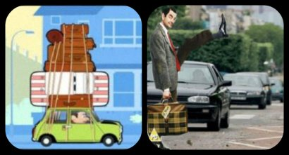 Mr Bean traveling around the world. Let our good humor keep us Happy amidst misery and injustice.