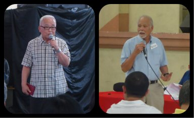 The two expert geologists Dr. Salvador Reyes and Dr. Kelvin Rodolfo.