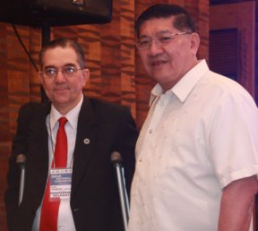 Mr. Ramon CF Cuervo III with Chairman and Board Member, Subdivision and Housing Developers Association (SHDA) Honorable Bansan Choa