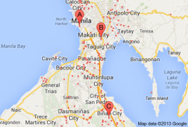 Industrial land map Philippines