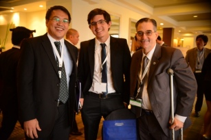 BCDA President and CEO Arnel Paciano D. Casanova with CCGA President Miguel Camus , and Chairman Ramon Cuervo