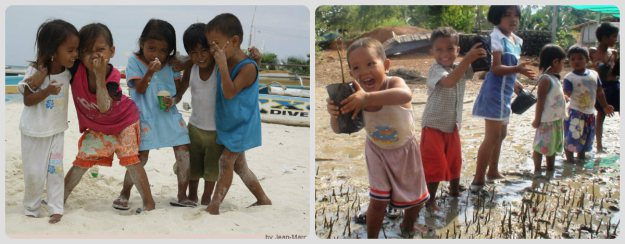 Aren't their Innocent and Smiling Faces so Beautiful?  Mangrove will give them a better Future!!!