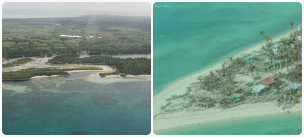 Bantayan Island: Before -  A Haven for Tourist and Marine Life : Now A Total Wreck After Yolanda's Fury. There was not enough Mangroves to Protect the Shoreline.