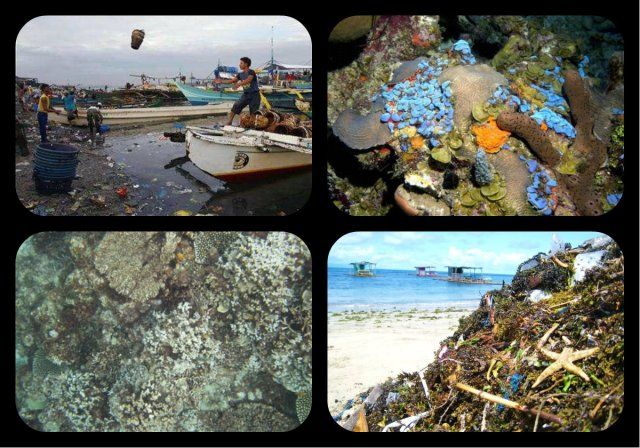 Today the Sad State of Matanbungkay dirty Beaches and dead Coral Reefs