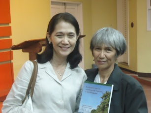 Ms. Quimpo and Dr. Primavera with her published book.