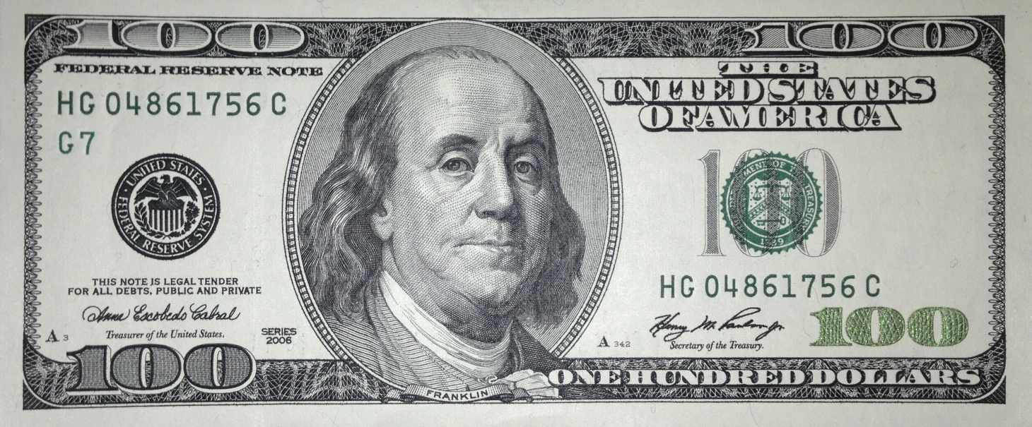 This is a graphic of Irresistible Free Printable 100 Dollar Bill